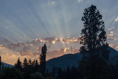 Восход восход рассвет горы Кавказ Сочи утро лучи