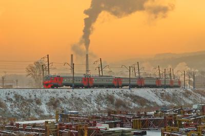 Морозное утро в Красноярске Красноярск утро мороз