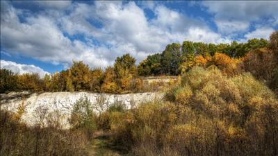 Пришла и рисует... осень пейзаж