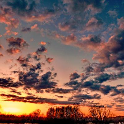 Апрельский закат.