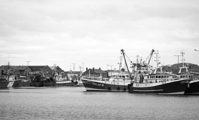 *** Порт корабли Хоут Ирландия черно-белое