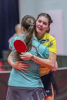Спасибо за игру! настольный теннис пинг-понг спорт table tennis ping-pong sport girl