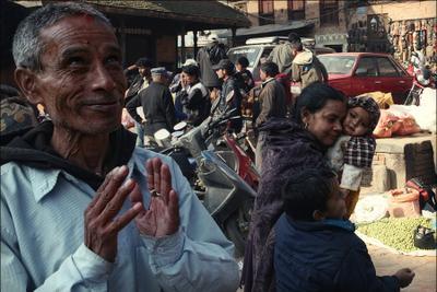 Непал, Бхактапур, центральная площадь, день Непал, Nepal, Бхактапур, Bhaktapur