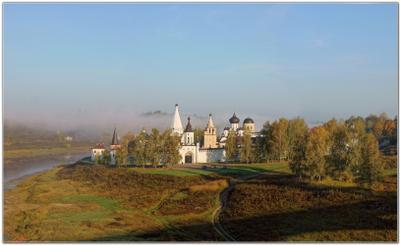 Утро туманное - 2 Старица Старицкий Свято-Успенский монастырь утро туман