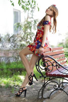 Ирина портрет девушка модель платье