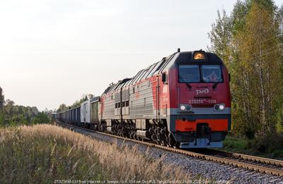 Приветливая бригада тепловоз 2ТЭ25КМ грузовой поезд бригада