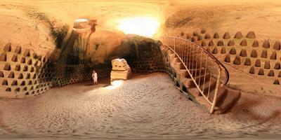 В пещере . Круговая панорама