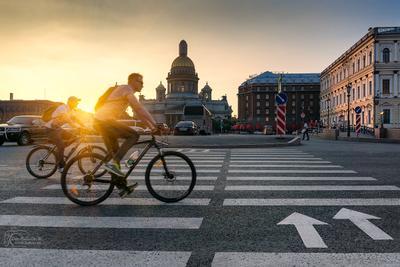 Закатные велосипедисты Санкт-Петербург