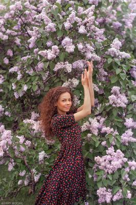Angelica girl portrait model color emotion flowers сирень цветы девушка весна nikon
