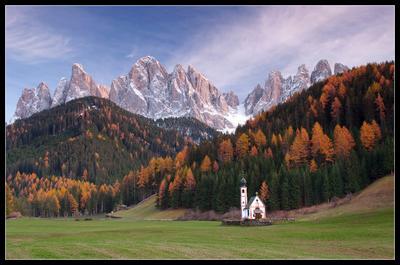 Santa Maddalena Dolomite, Italy, Доломиты, Альпы, Италия