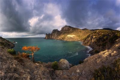 Голубая бухта. крым новыйсвет бухта море горы мыс красота сказка