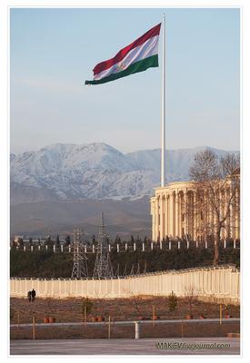 Сила власти Душанбе, флаг, флагшток, власть