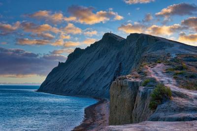 """Вечерний """" Хамелеон"""" небо море скалы тропинка"""