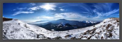 Magnificence! Крым, Демерджи, Зима, Туризм, Панорама, Пахкал-Кая, Чатырдаг, Бабуган
