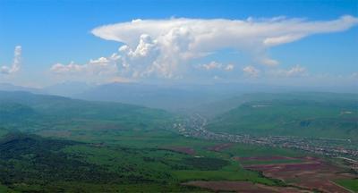 **Гоный пейзаж с облаками* Кавказ баксанское ущелье заюково