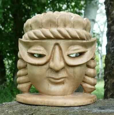 Маска в Маске мои работы из дерева скульптура