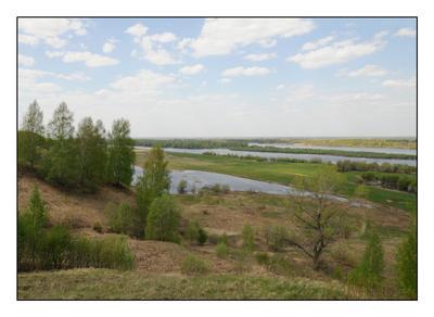 Просторы Родные просторы река Ока весна май пейзаж Россия Монаково