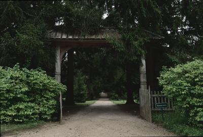 Ворота в лес. аллея