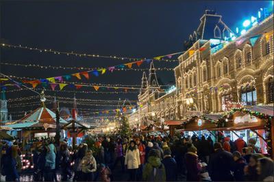 Москва новогодняя (4) Новый год Рождество Москва город