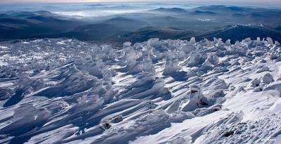 Предновогоднее паломничество снеговиков горы шерегеш горная шория гора мустаг зима солнце снеговики