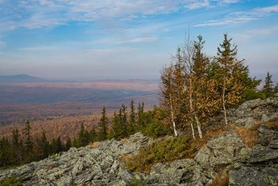 Осень в Уральских горах.