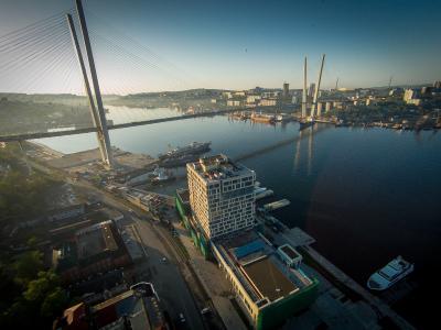 Владивосток владивосток мост море рассвет