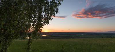 вечерняя история закат лето