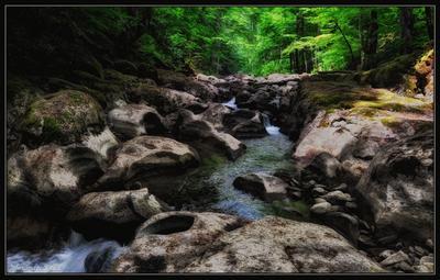 Каменный путь Аюка... HDR ручей Аюк камни лес