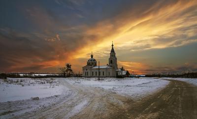Церковь св.Николая в с.Кривополянье Бондарского р-она Тамбовской обл.
