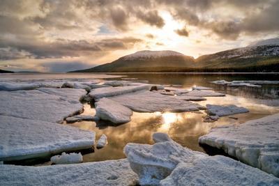 Белое море Белое море Мурманская область вечер лед весна