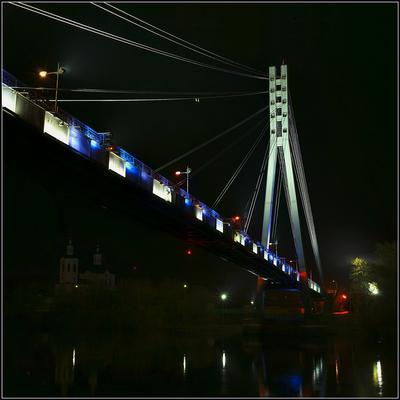 Провинциальная ночная пастораль ночь, туман, Тюмень