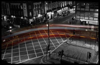 Red stroke London, UK, Paddington