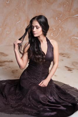 #1 красивая девушка платье