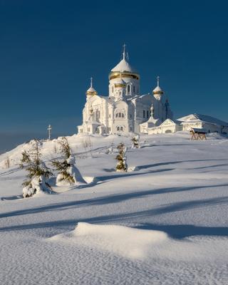 Утро в Белогорье зима утро собор белогорье урал