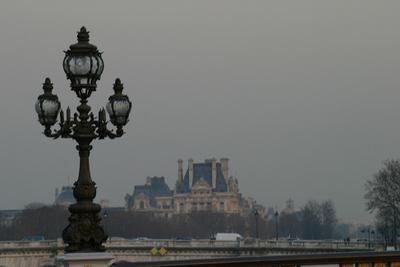 Парижская дымка париж мост лувр