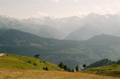 В даль. Сванетия Кавказ Грузия