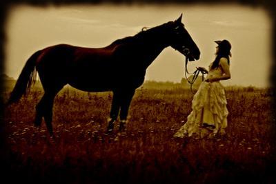 ### девушка, лошадь