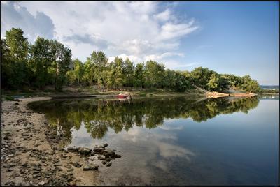 Тихая гавань утро, Волга, Сок, Самара, лето