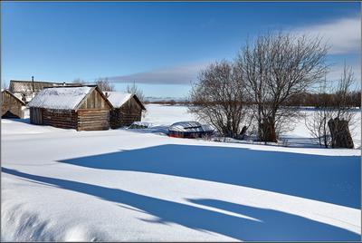 Голубые тени марта. Архангельск зима весна