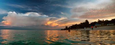 White in blue Тайланд Самуи Thai Thailand Samui Sky Sunset Cloud