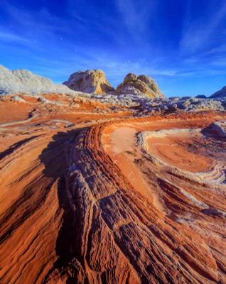 Марс в лунном свете аризона белый карман америка юго-запад arizona sandstone vermilion Cliffs white pocket