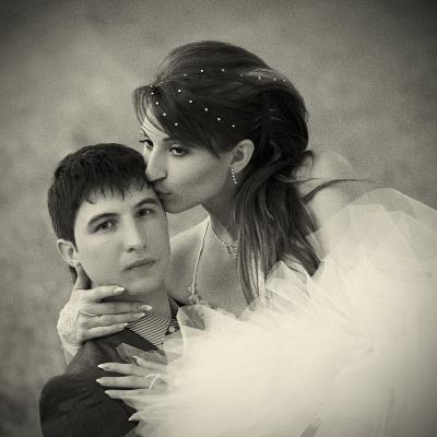 Мы долгое эхо друг друга... Нежность свадебное фото