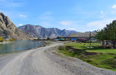 М.Яломан. Горный Алтай пейзаж реки Катунь nataly-teplyakov