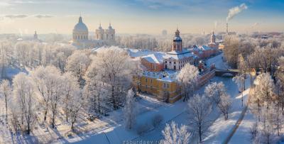 Александро-Невская лавра россия петербург зима дрон