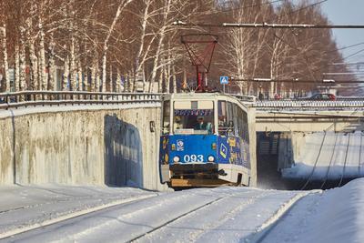 Однажды зимой ... трамвай зима снег