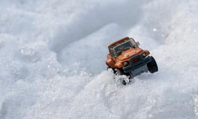 Снежные просторы Массачусетса макро игрушки снег зима