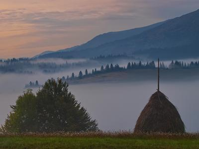 *** Карпаты Изки осень утро туман
