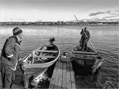 *Переправа, или Трансфер по-сельски* фотография путешествие Север Кольский полуостров осень река село жанр Фото.Сайт Светлана Мамакина Lihgra Adventure