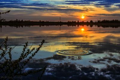 Закат на Волге. Закат река Волга вечер