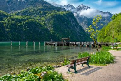 Бавария. Озеро Кёнигзее.